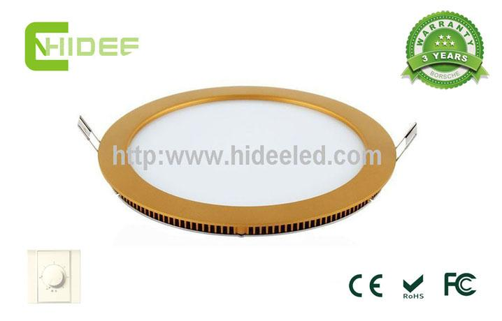 12W Golden Triac-dimmable LED Panel Light