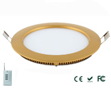12W PWM Dimmable LED Panel Light Round