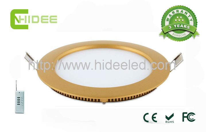 Golden 10W PWM Dimmable LED Panel Light