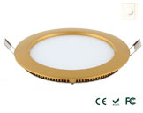 10W Golden Triac-Dimmable LED Panel Light