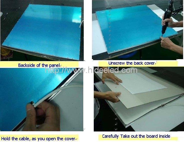 LED panel light Solution: please follow these steps