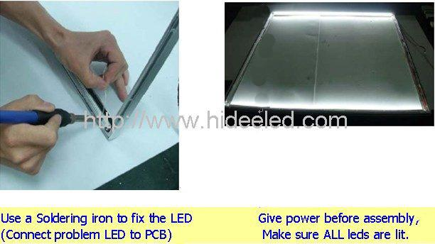 LED Panel light fixing 3