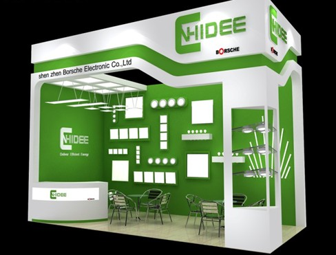 2012 Led Lighting Exhibition Of Cnhidee Led Panel Light