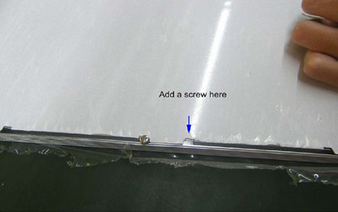 LED Panel Light Installation Add a screw as follows