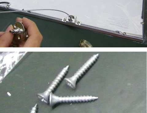 LED Panel Light Installation Add a screw as follows 3