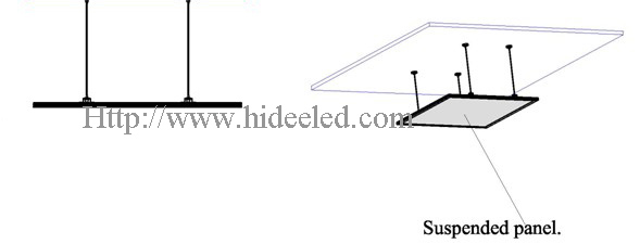 Suspended type LED Panel Light Installation 2