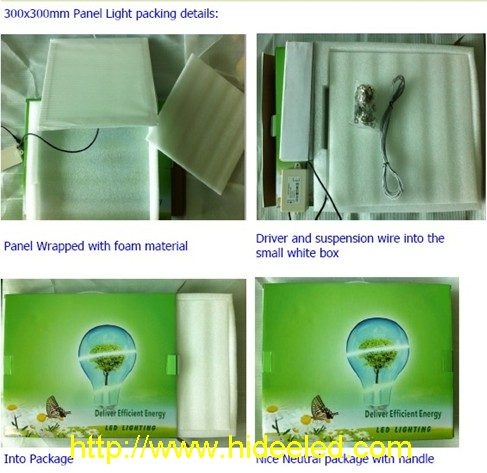 LED Panel Light 300x300mm package