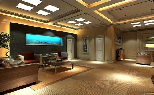 Living Room Decorated with LED Panel Light